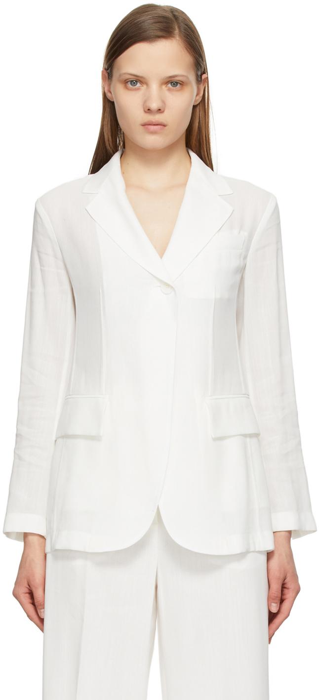 Sportmax 白色 Cursore 西装外套