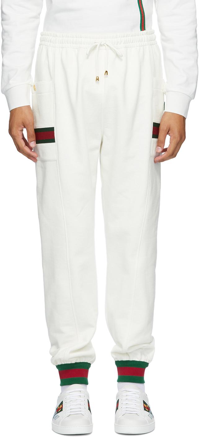 Gucci 白色 Web 有机棉运动裤