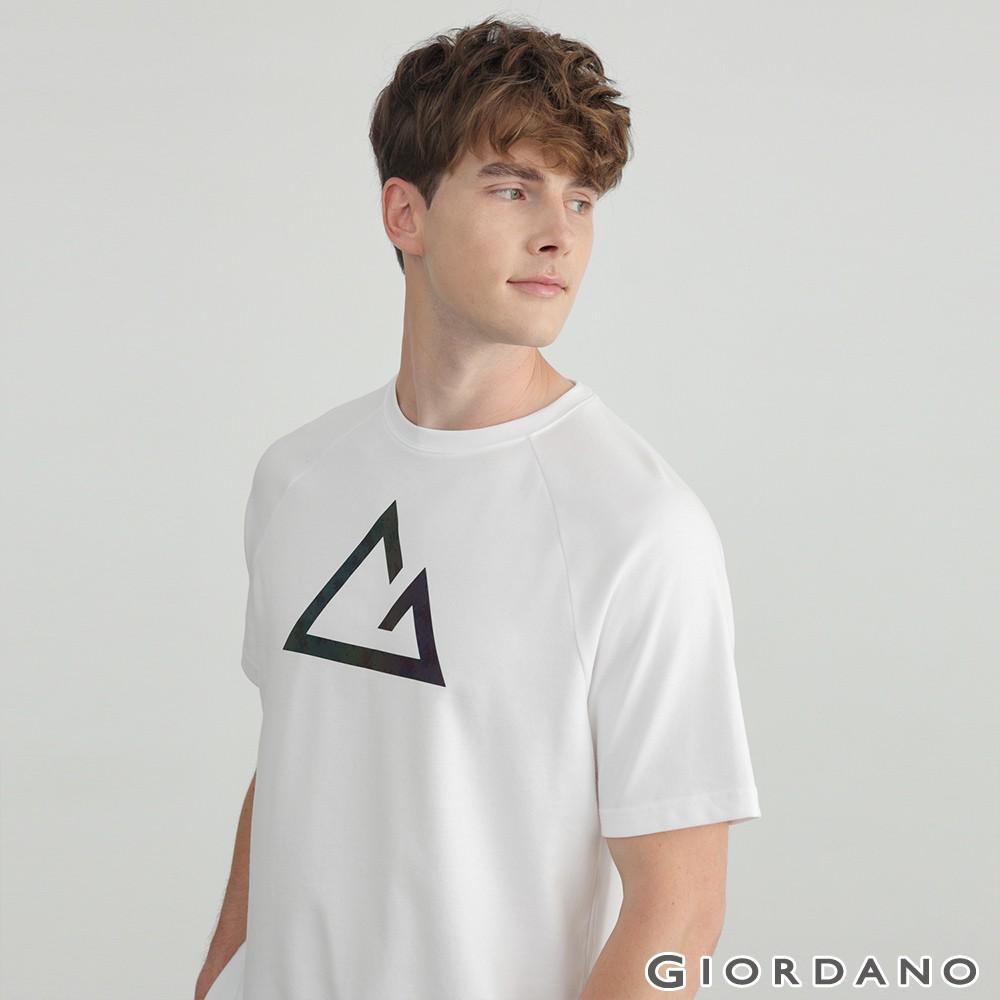 GIORDANO 男裝G-motion快乾棉T恤 (兩色任選) 01020227