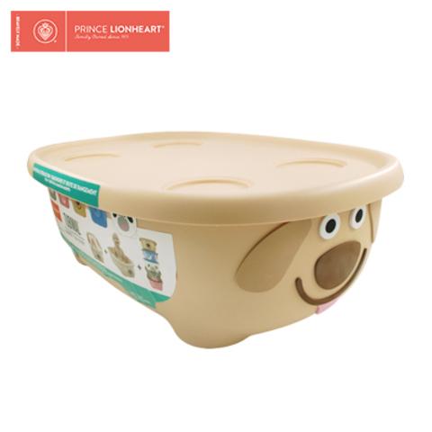 美國Prince lionheart 收納箱/浴盆(附上蓋+浴網)-小狗