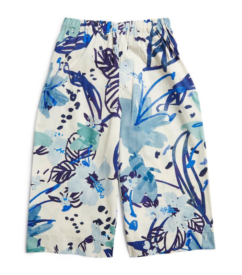 Il Gufo Tropical Print Capri Trousers (3-12 Years)