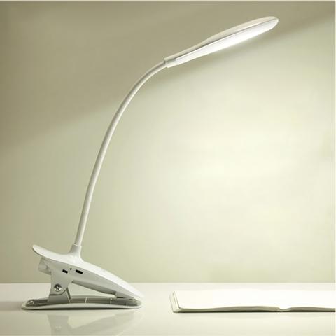 環形觸控LED夾燈-白