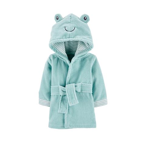 Carter's 台灣總代理 可愛蛙蛙連帽造型浴袍 (0-9M)