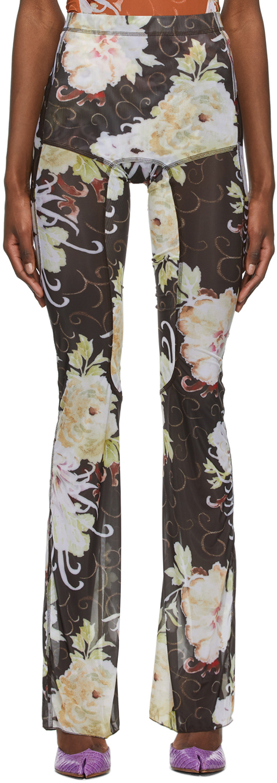 Charlotte Knowles SSENSE 独家发售黑色 Halcyon 打底裤
