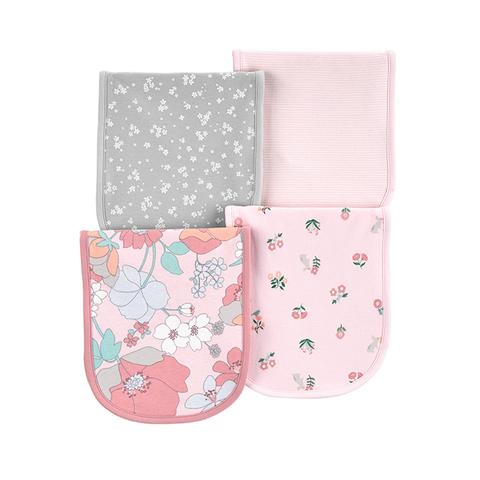 Carter's 台灣總代理 純柔花園花卉4件組口水巾(OSZ)