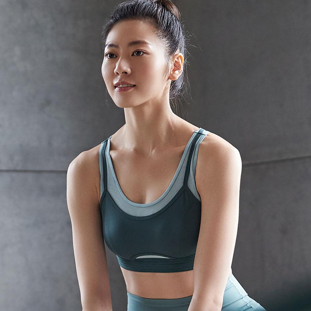蕾黛絲-LadieSport好動 Level 2 舒活背心 M-EEL 運動內衣 個性綠| D21-132A F9