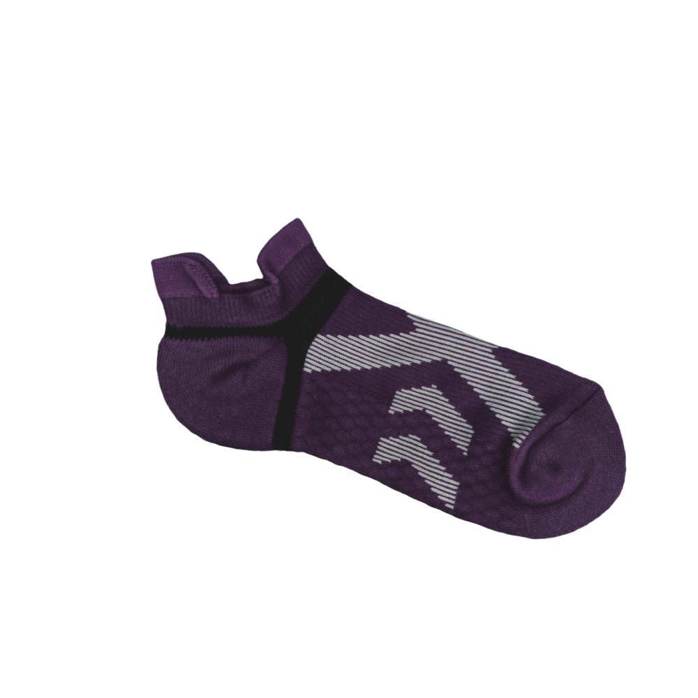 貝柔足弓交叉防磨加壓護足氣墊船襪(女)-深紫(1雙) 【康是美】