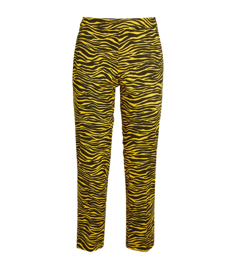 Max & Co Zebra Print Cropped Trousers