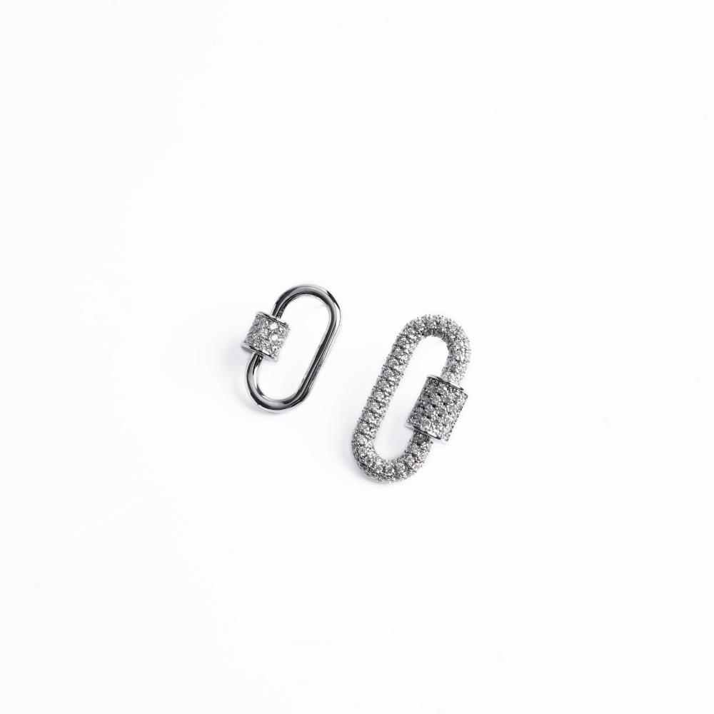 SO NICE亮鑽瑣頭造型耳環