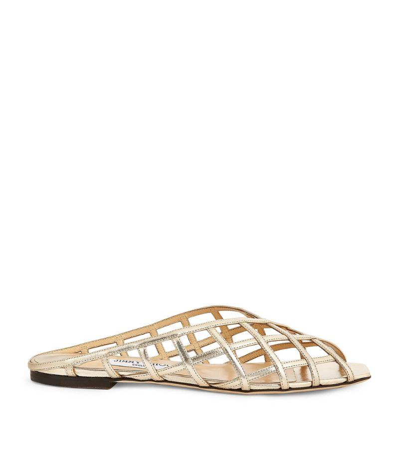 Jimmy Choo Sai Leather Flats