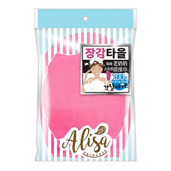 艾莉莎公主韓國去角質搓澡巾(混色) 【康是美】