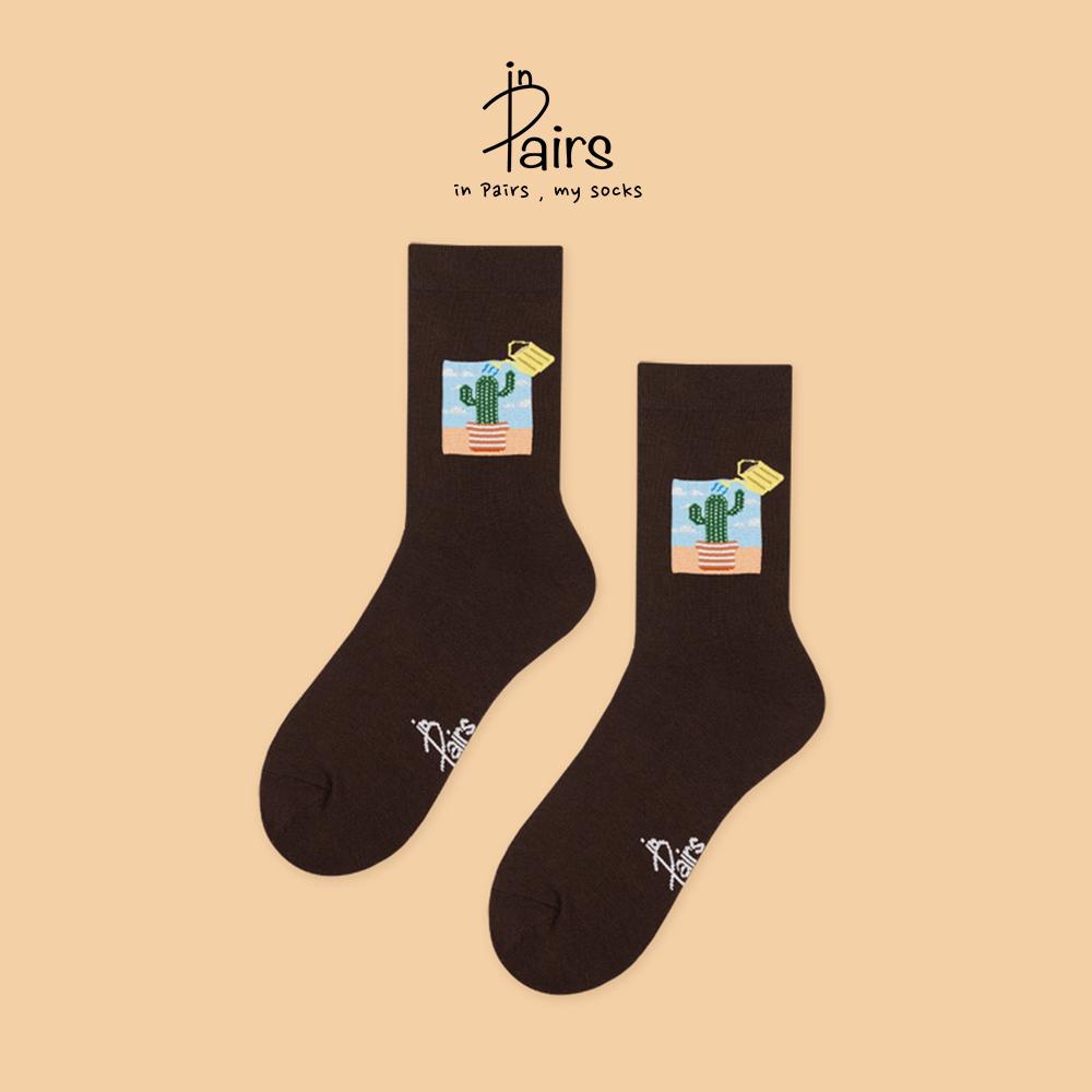 【in Pairs】仙人掌中筒襪-L 【康是美】