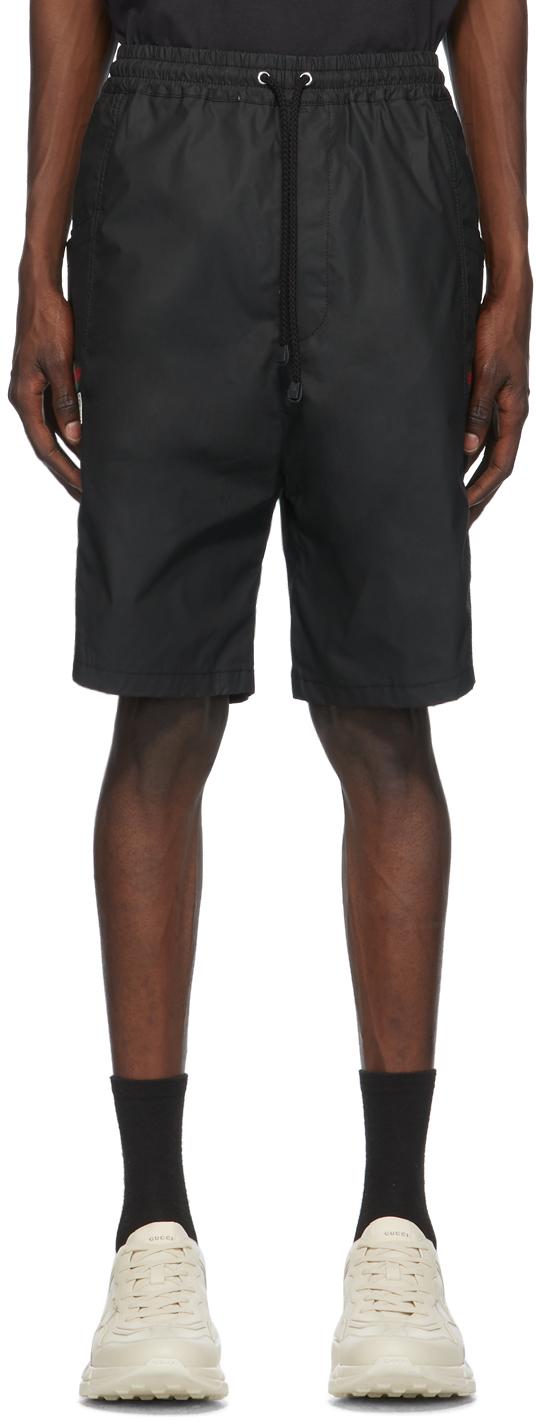 Gucci 黑色防水工装短裤