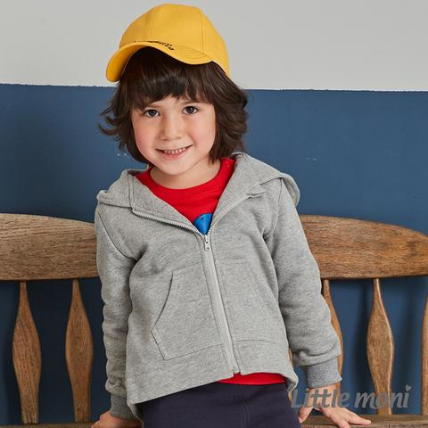 Little moni 造型連帽刷毛外套(灰色)