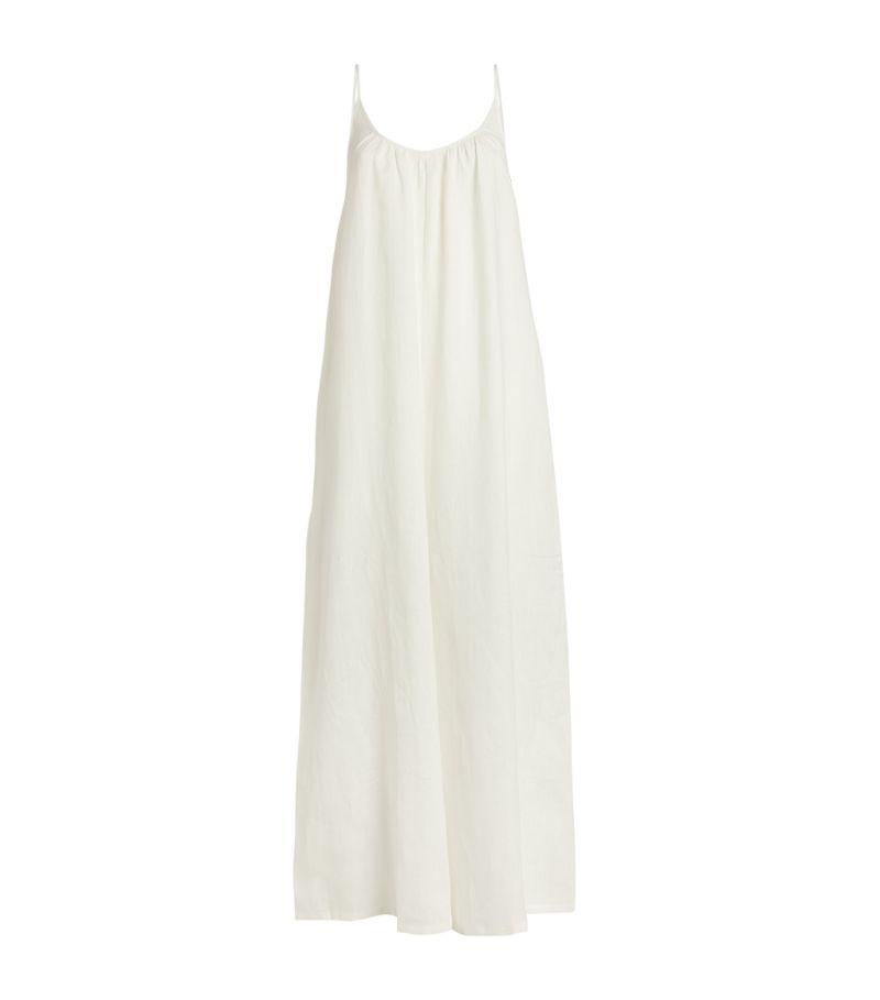 Pour Les Femmes Linen Jumpsuit