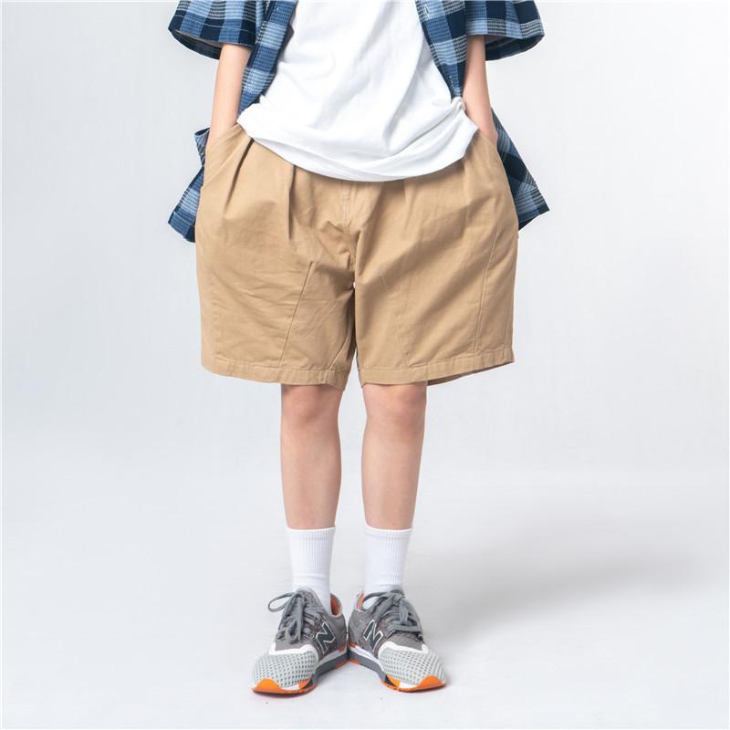 日式打折寬版 工裝 繭型工作短褲 男女可穿【QM9175】