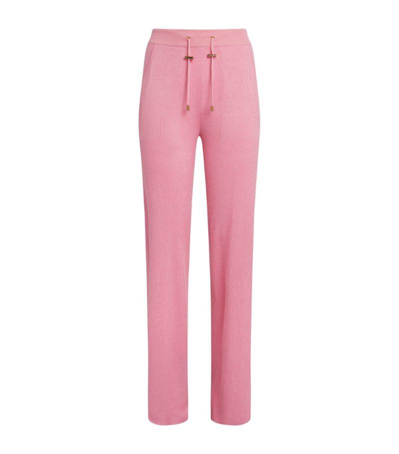 Balmain Cashmere-Silk Ribbed Sweatpants