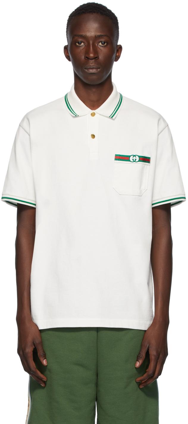 Gucci 白色 Interlocking G Polo 衫