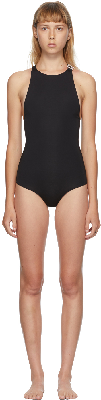 Gucci 黑色 Jewel G 连体泳衣