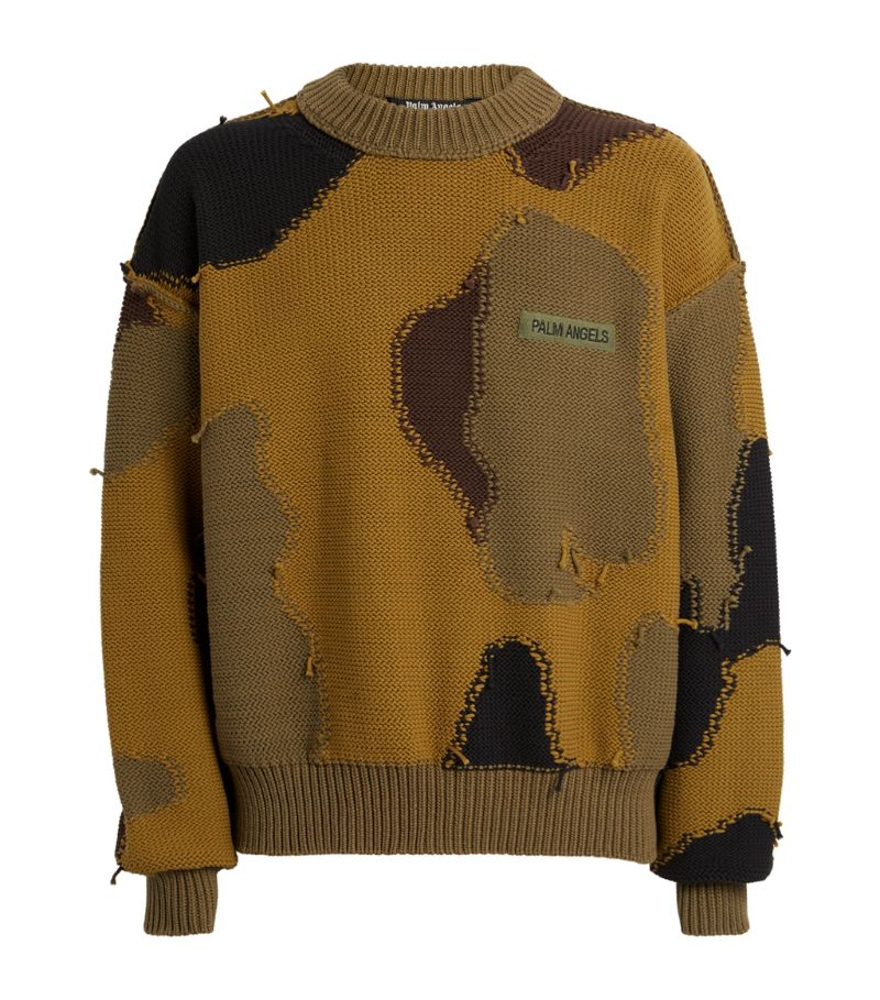 Palm Angels Knitted Camouflage Sweater