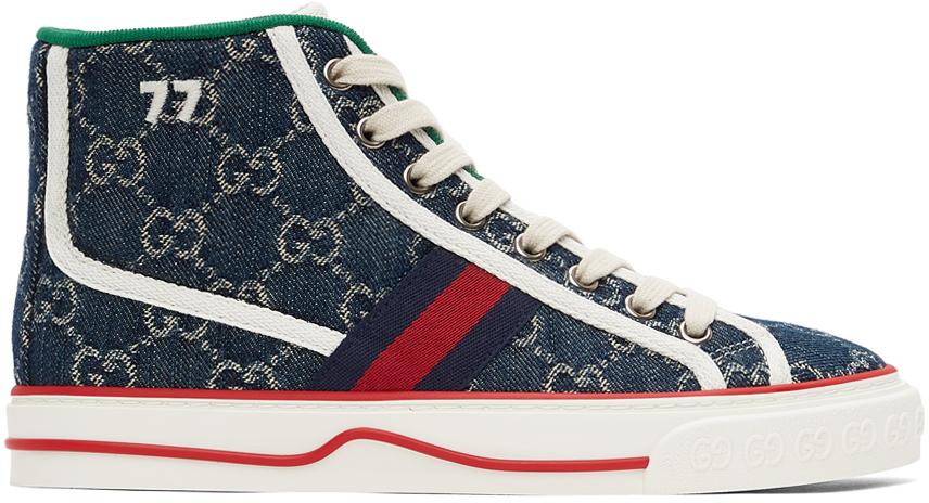Gucci 蓝色 Gucci Tennis 1977 高帮运动鞋