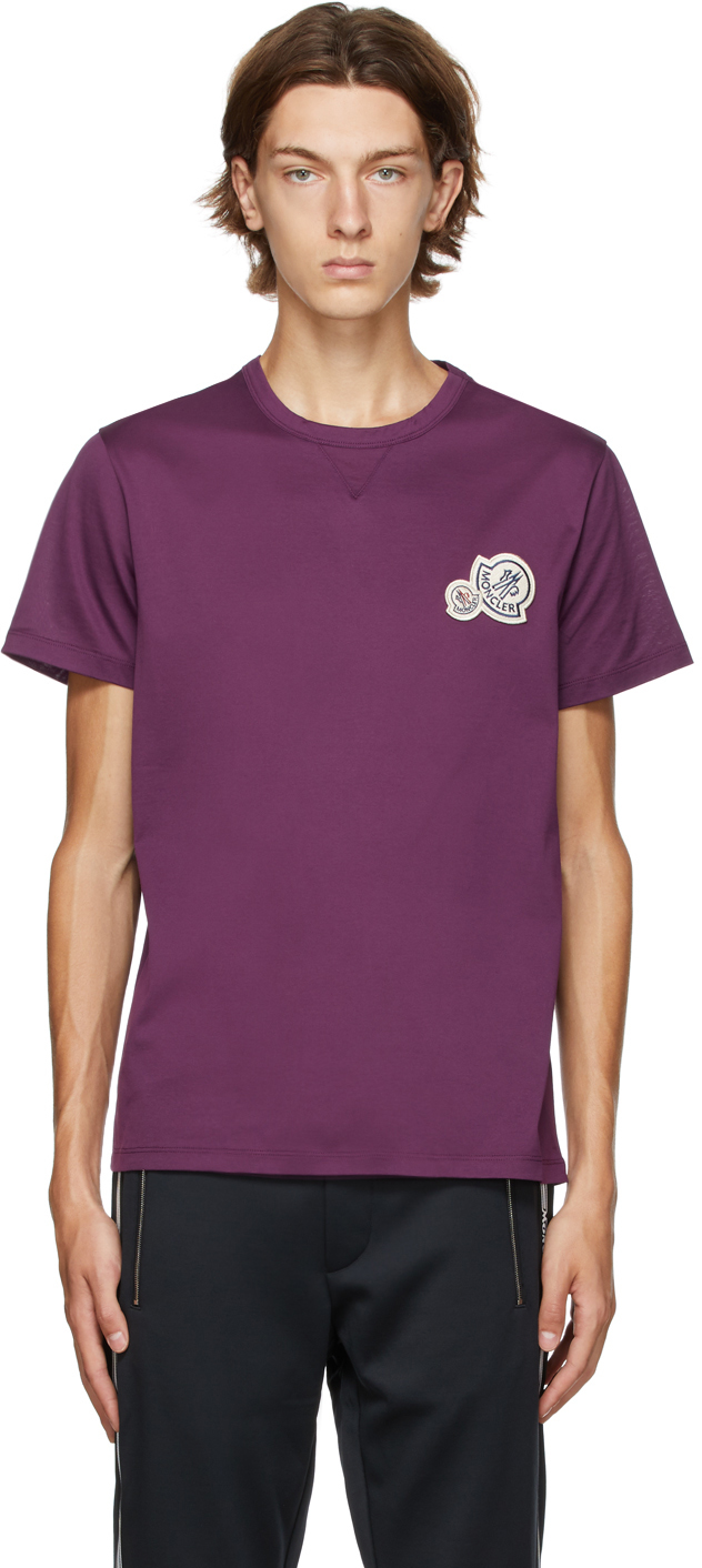Moncler 紫色徽标 T 恤