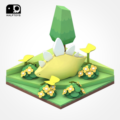 HALFTOYS哈福玩具 3D恐龍樂園:劍龍(STEGO)STEAM教育玩具