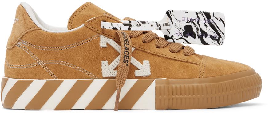 Off-White 黄褐色硫化运动鞋