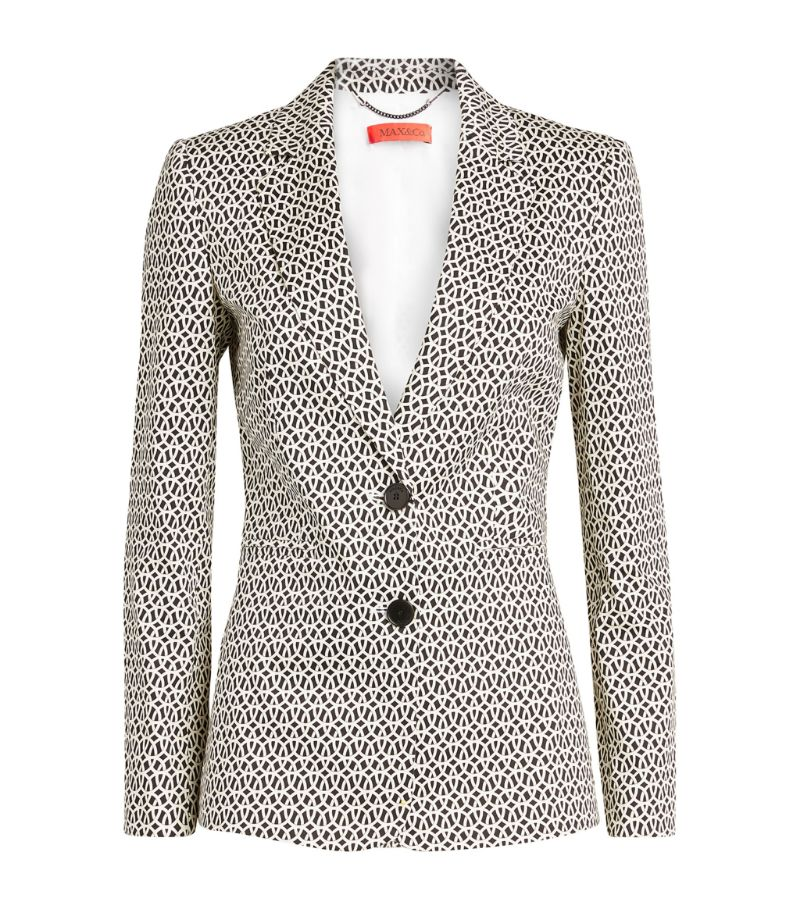 Max & Co. Geometric Print Blazer