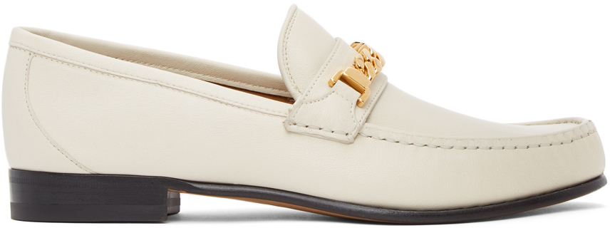 Gucci 灰白色马衔索乐福鞋