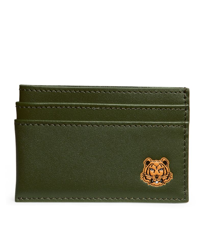 Kenzo Leather Icon Tiger Card Holder