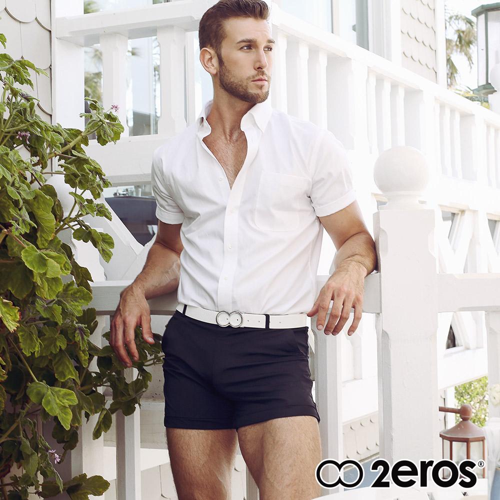 ★好事成雙★限時2件77折★2EROS 邦迪後拉鍊口袋多功能男短褲(黑色),L2-S6061BKB1