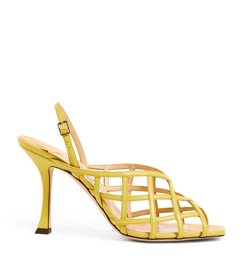 Jimmy Choo Saila 90 Leather Sandals
