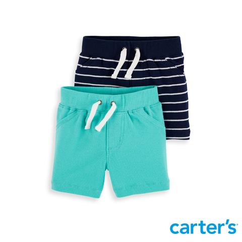 carter's 海洋條紋休閒短褲兩件組 (6M-24M)