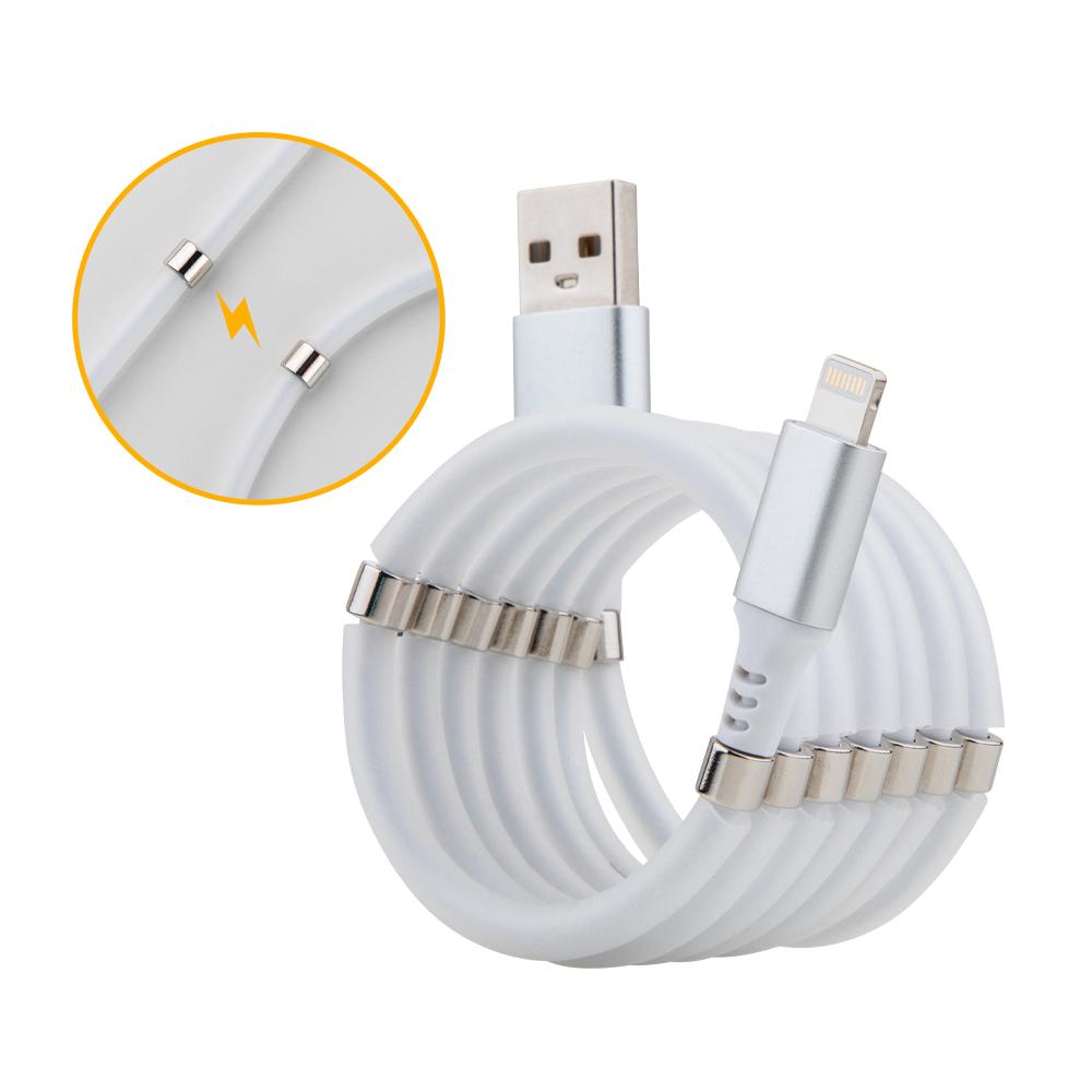 磁吸收納充電線 PD快充線 快速整線/捲線 磁鐵吸附捲線 適用iPhone/Type-C/Micro USB傳輸線 支援快速充電 iOS充電線