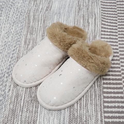 白晝銀星室內拖鞋(M)