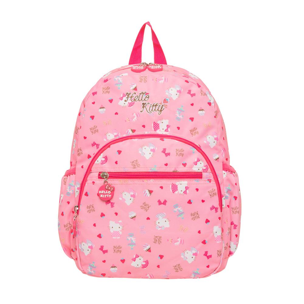 《兒童節優惠》【HELLO KITTY】夢幻樂園-後背包(大) 粉紅 KT02C02PK (IMKS)