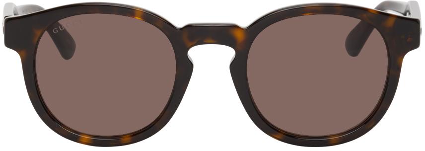 Gucci 玳瑁色 GG0825S 太阳镜