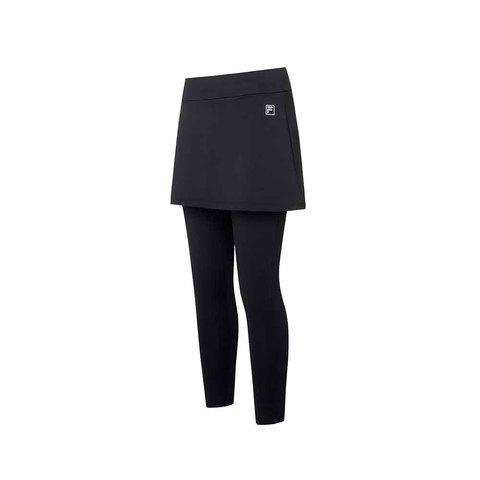 FILA 女針織裙褲-黑色 5PNU-5608-BK