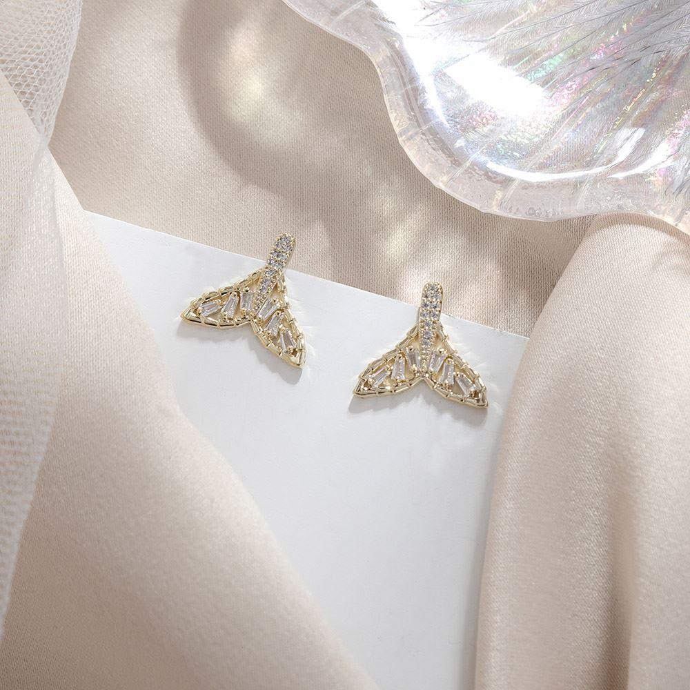 [韓國流行耳環]童話海洋風人魚尾耳環 ER00196