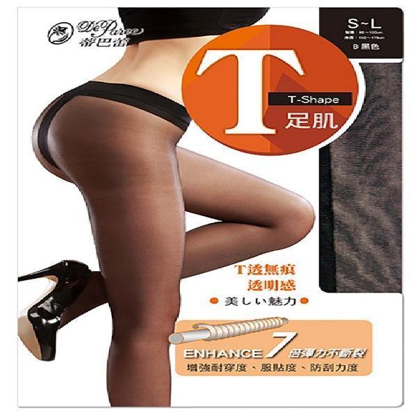蒂巴蕾 T足肌彈性絲襪6791-黑【康是美】