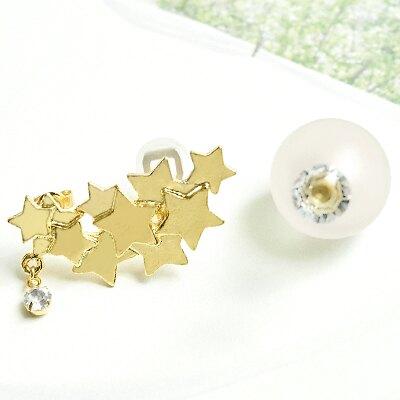〔APM飾品〕日本Hilaris 星甦幻夢朦朧雲朵耳環組