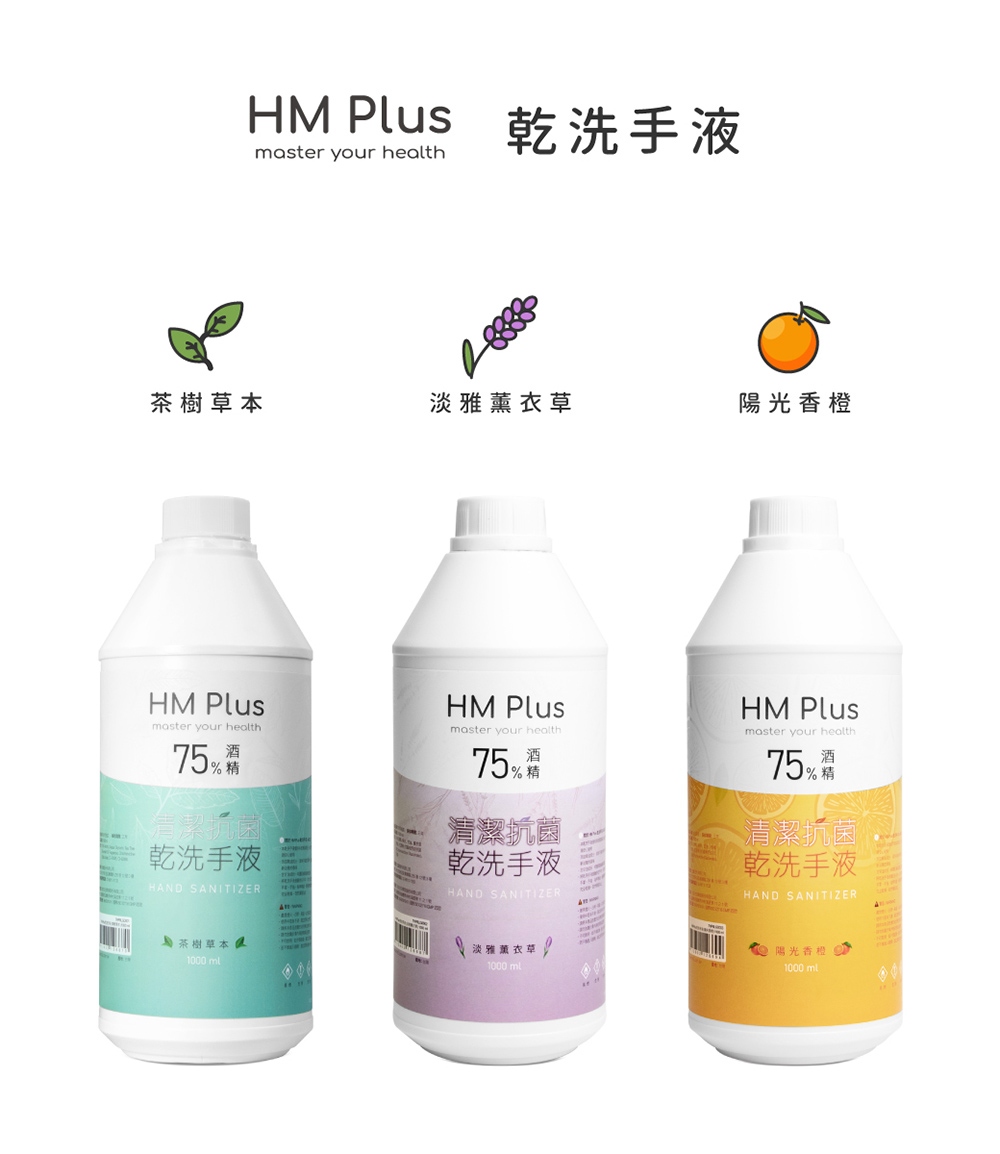 HM Plus 清潔抗菌乾洗手液1000ml (適用HM2自動手指消毒機)