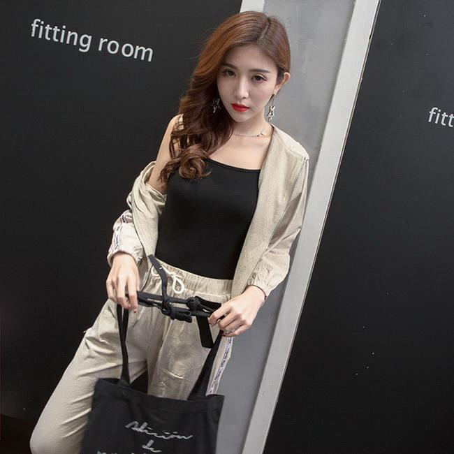 FOFU-春夏裝女裝韓版小香風chic風兩件套秋季休閒運動套裝時尚【08SG06262】