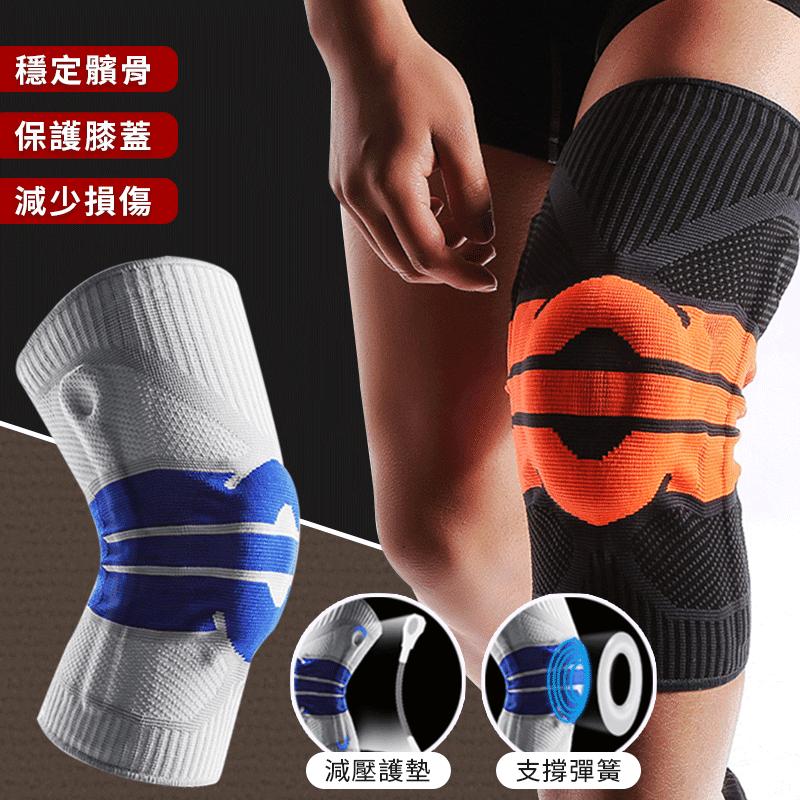 矽膠彈簧運動護膝(雙)