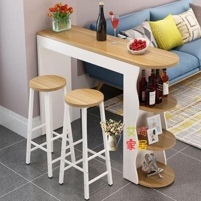 吧台桌 北歐小吧台桌家用隔斷櫃現代簡約靠牆創意吧台櫃客廳酒櫃咖啡餐桌T