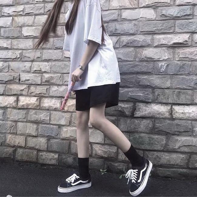FOFU-黑色五分休閒運動短褲子女韓版寬鬆百搭外穿高腰闊腿褲夏【08SG06230】