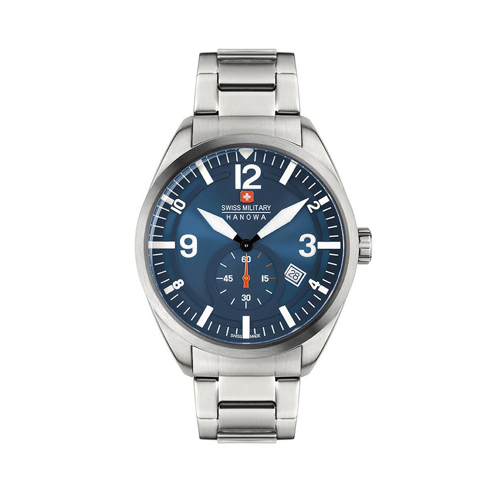 【SWISS MILITARY HANOWA】SCOPE 運動風日期鋼帶腕錶 SM14389JSN.H03MA
