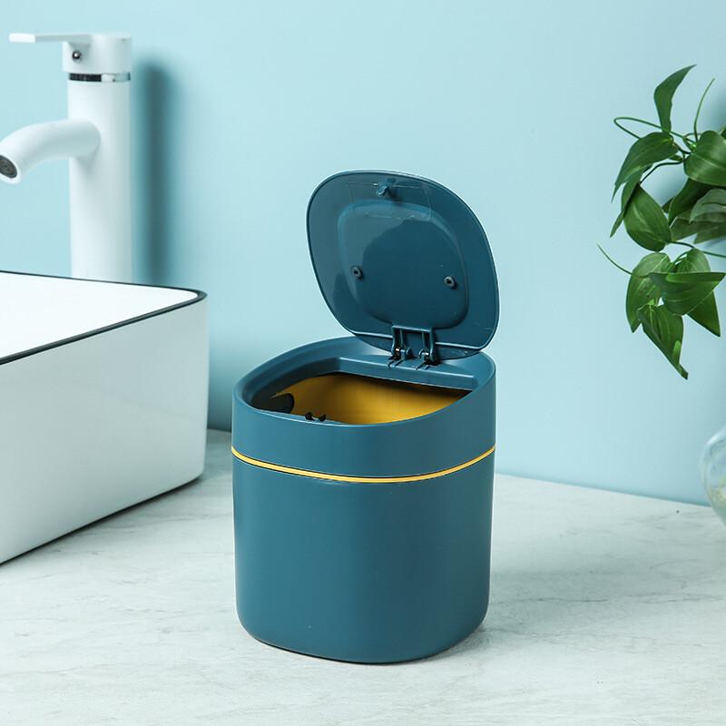 北歐風桌面垃圾桶 桌面按壓垃圾桶 按壓式垃圾桶 垃圾桶 迷你垃圾桶 辦公室垃圾桶 彈蓋垃圾桶