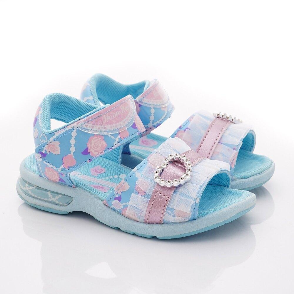 日本月星Moonstar機能童鞋涼鞋系列公主涼鞋款5149藍(中小童段)整點特賣(4/13/13:00)準時開搶